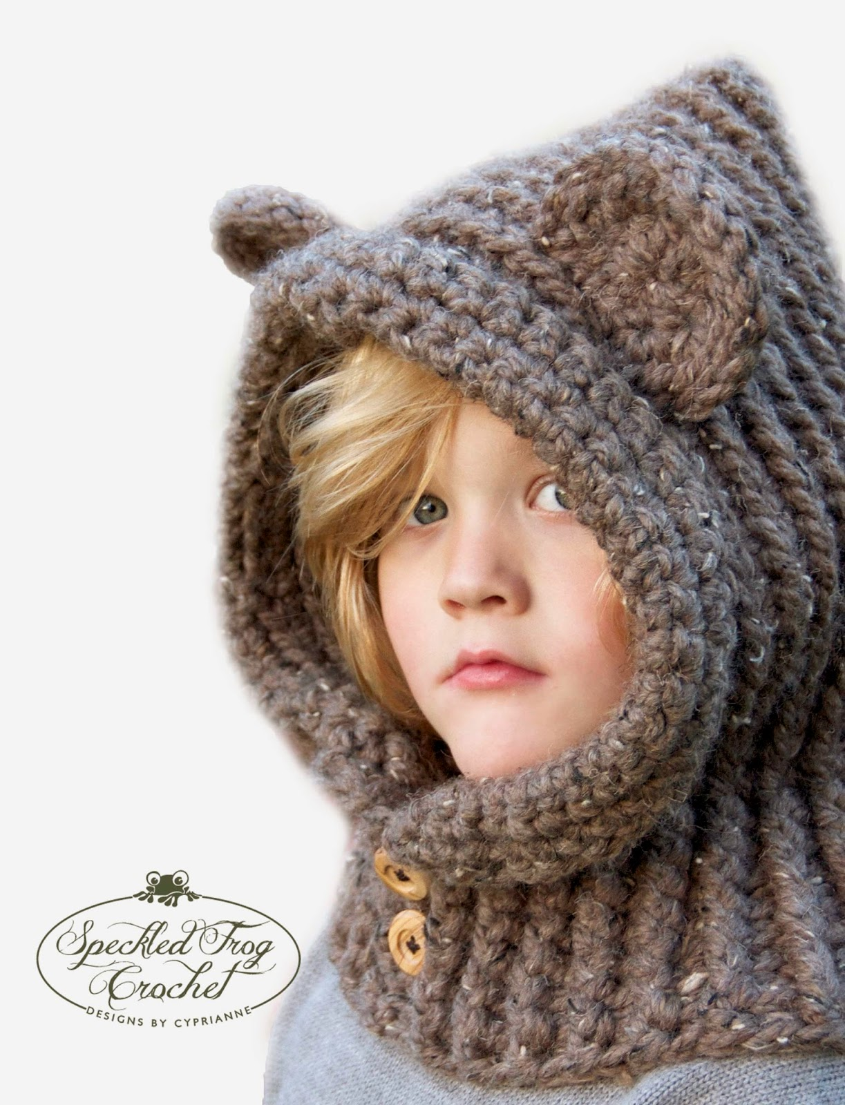 CROCHET HOODED BEAR COWL PATTERN
